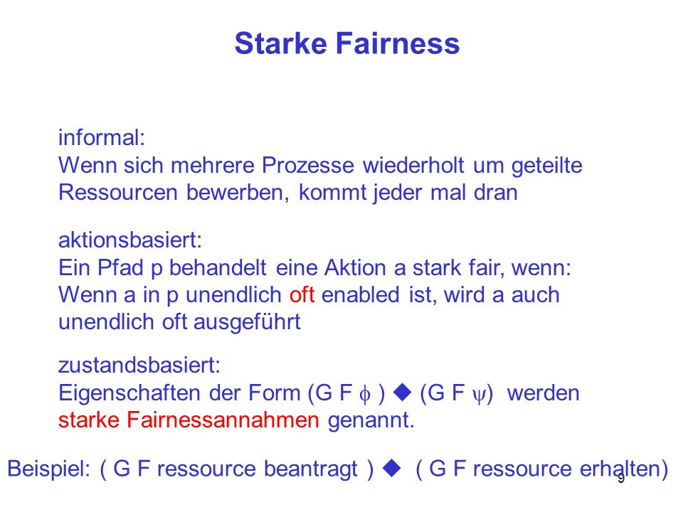 Starke Fairness informal: