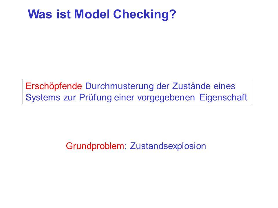 Was ist Model Checking Erschöpfende Durchmusterung der Zustände eines