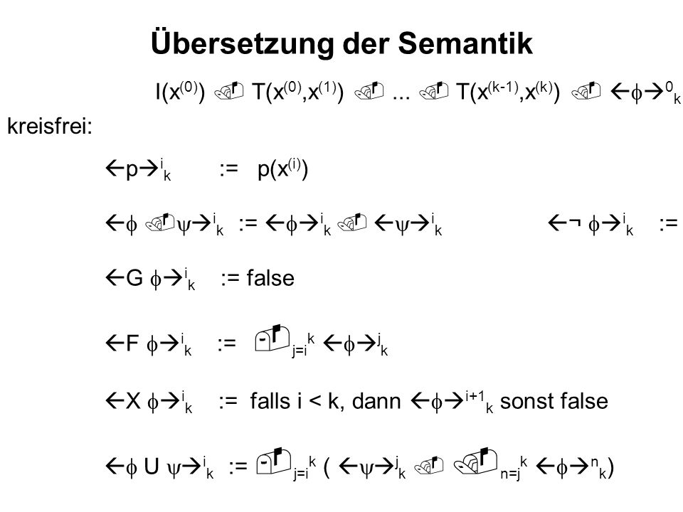 Übersetzung der Semantik