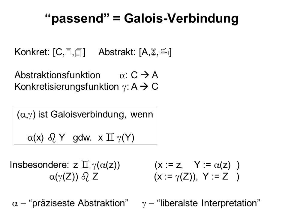 passend = Galois-Verbindung