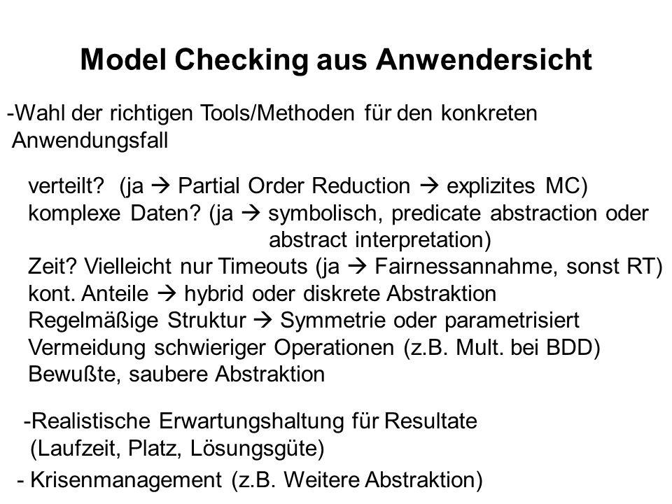 Model Checking aus Anwendersicht