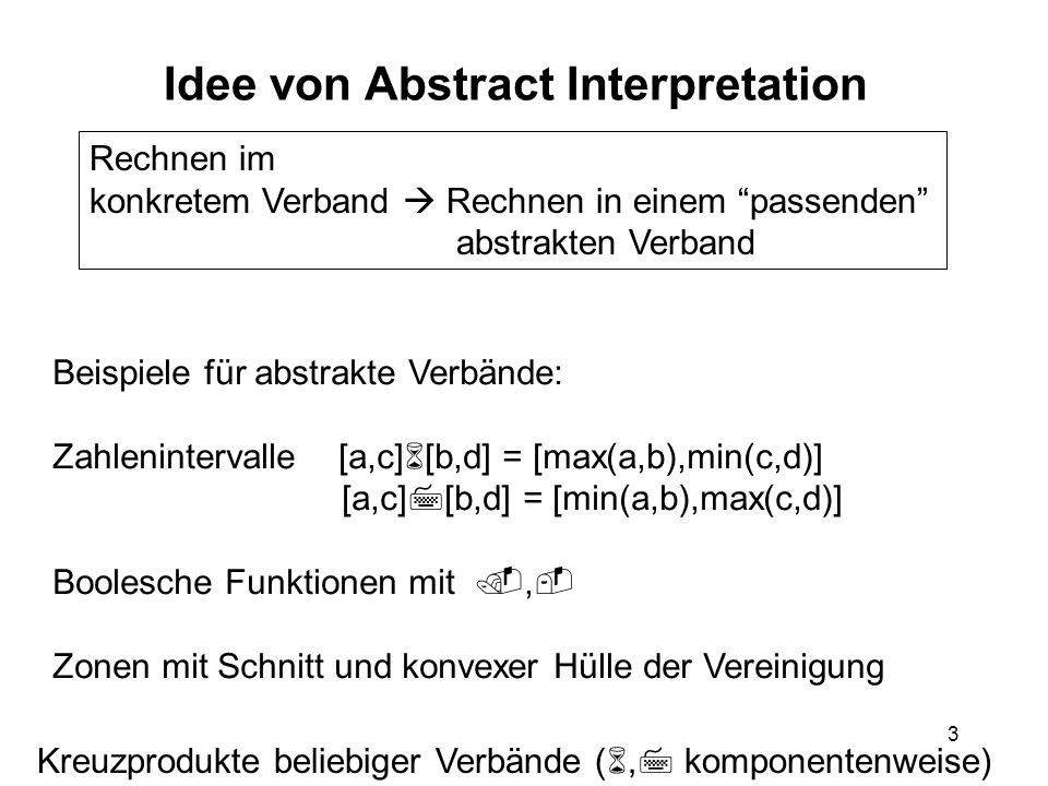Idee von Abstract Interpretation