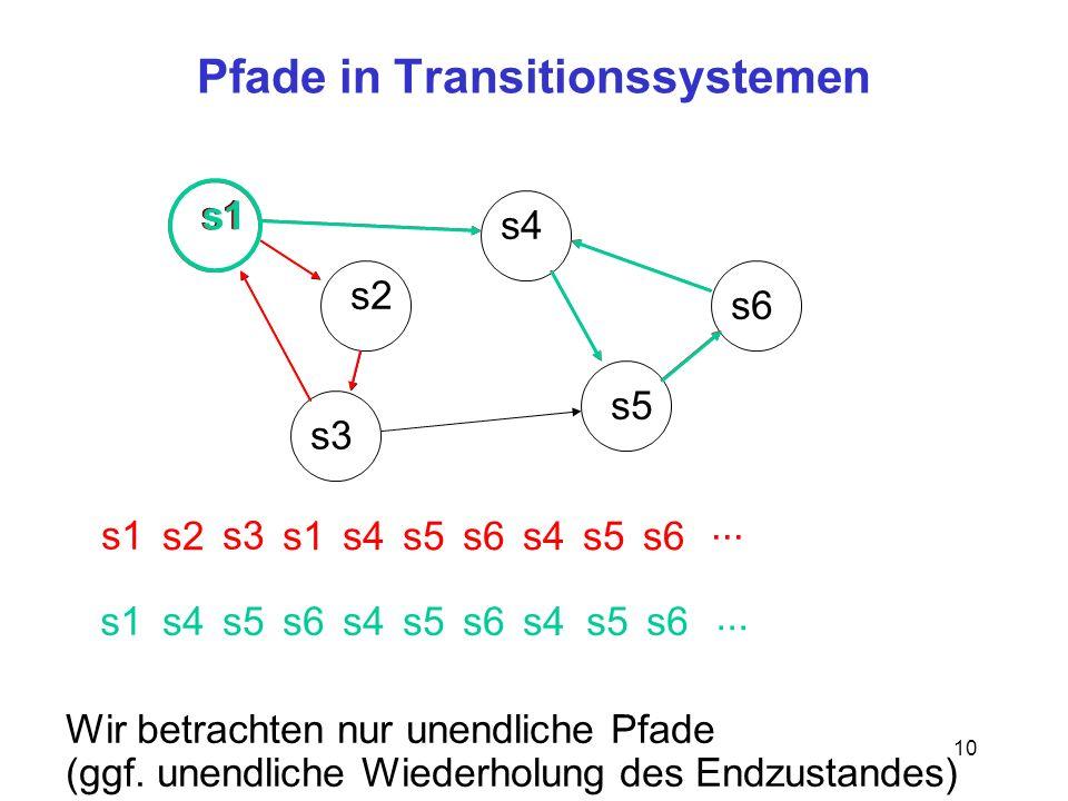 Pfade in Transitionssystemen