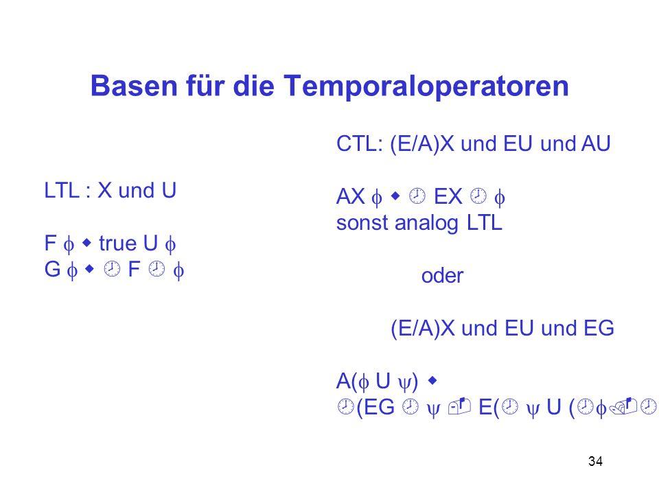 Basen für die Temporaloperatoren