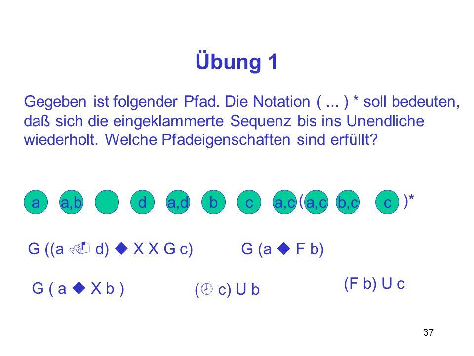 Übung 1 Gegeben ist folgender Pfad. Die Notation ( ... ) * soll bedeuten, daß sich die eingeklammerte Sequenz bis ins Unendliche.