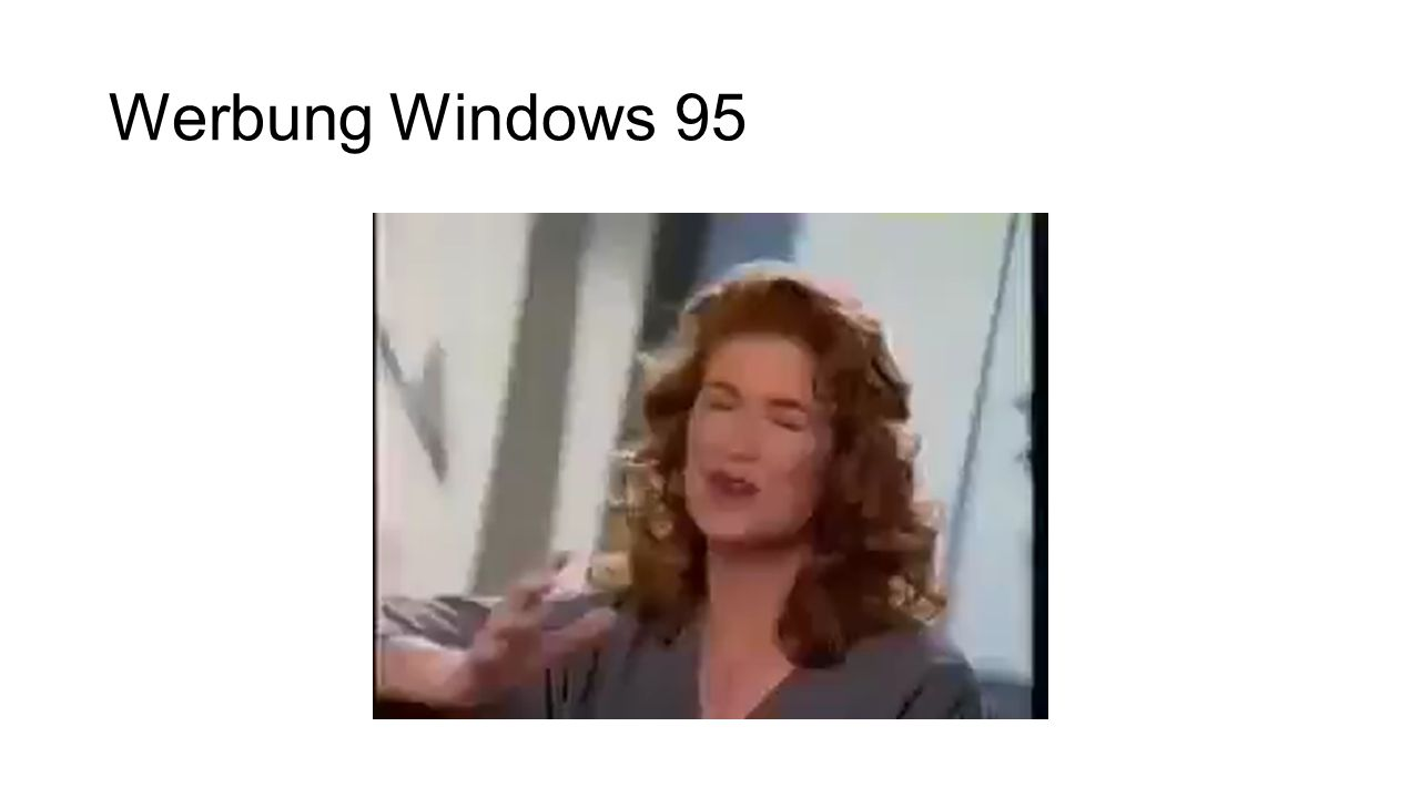 Werbung Windows 95