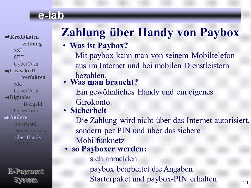 Zahlung über Handy von Paybox