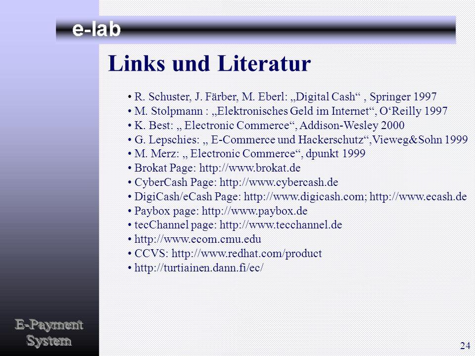 Links und Literatur E-Payment System