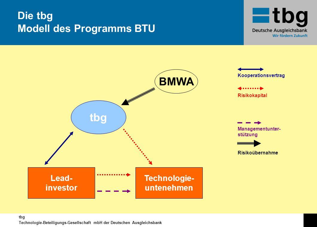 Die tbg Modell des Programms BTU