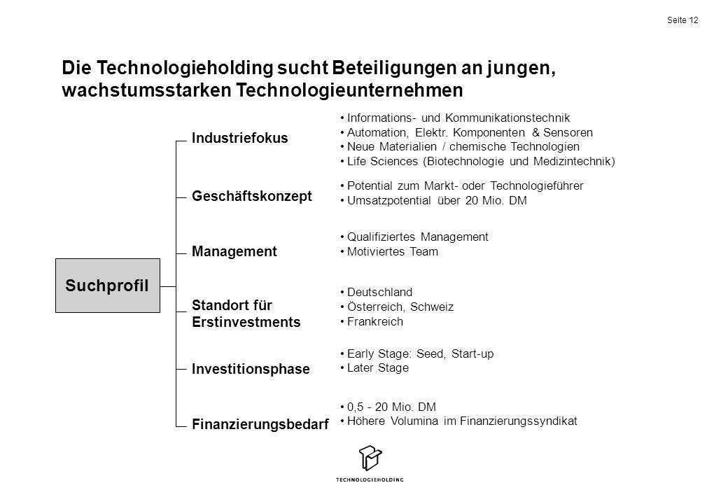 Die Technologieholding sucht Beteiligungen an jungen, wachstumsstarken Technologieunternehmen