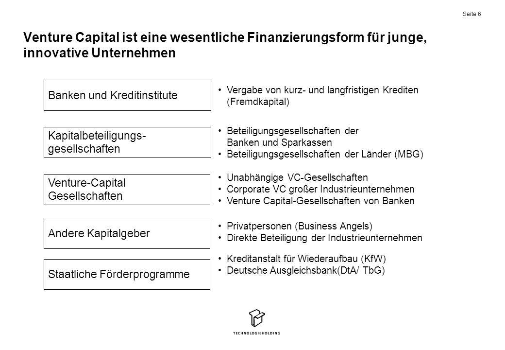 Venture Capital ist eine wesentliche Finanzierungsform für junge, innovative Unternehmen
