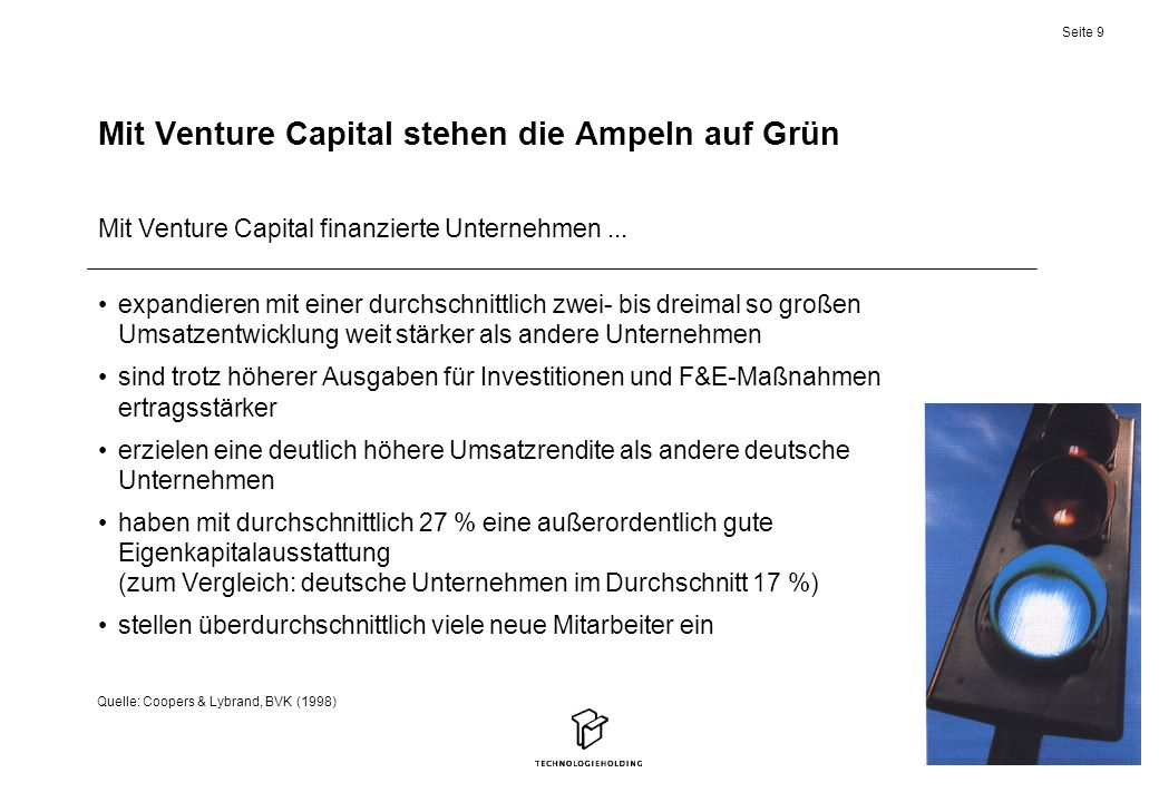 Mit Venture Capital stehen die Ampeln auf Grün