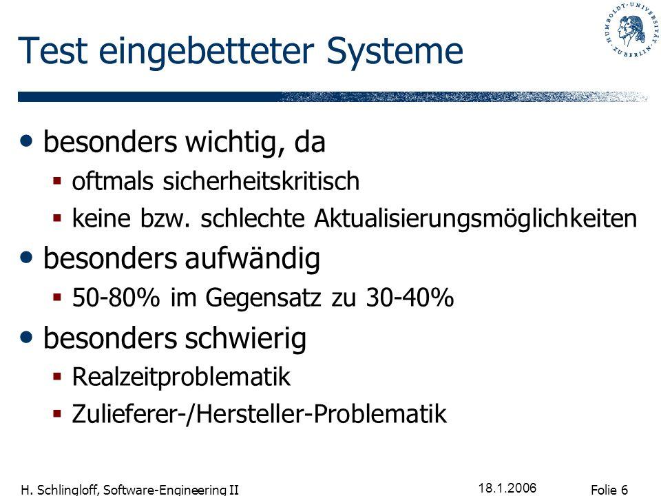 Test eingebetteter Systeme