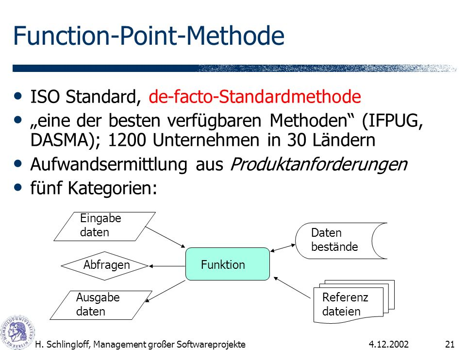 Function-Point-Methode