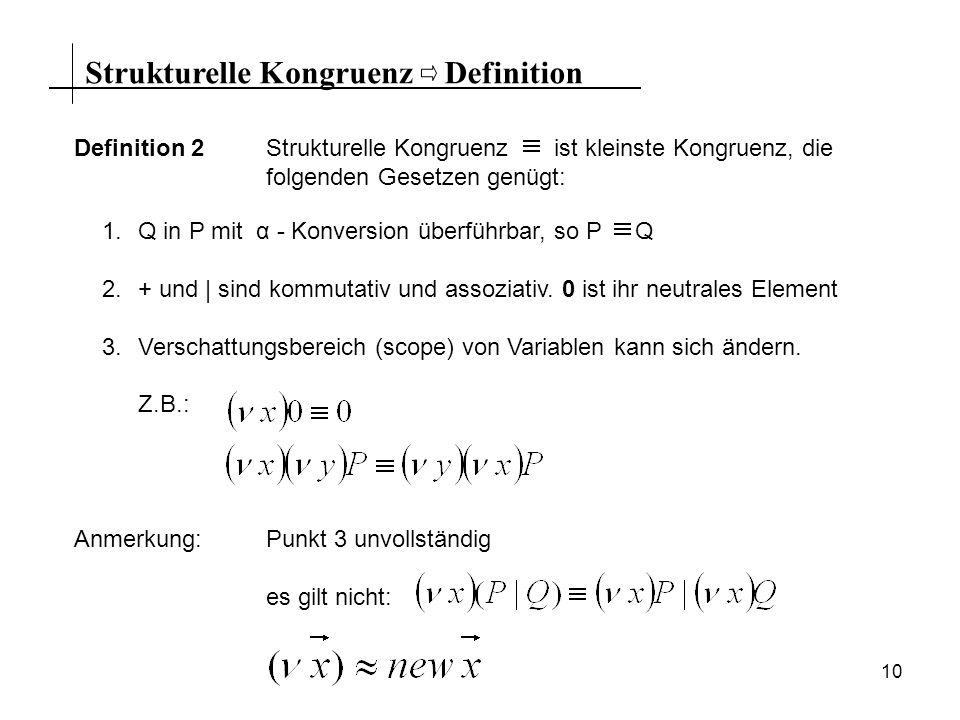 Strukturelle Kongruenz Definition