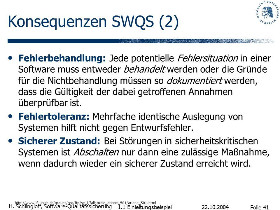 Konsequenzen SWQS (2)