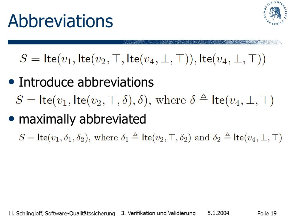 Abbreviations Introduce abbreviations maximally abbreviated