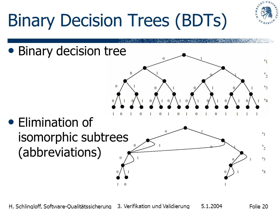 Binary Decision Trees (BDTs)
