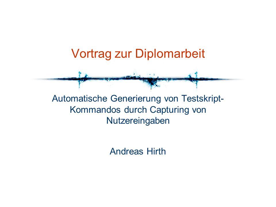 Vortrag zur Diplomarbeit