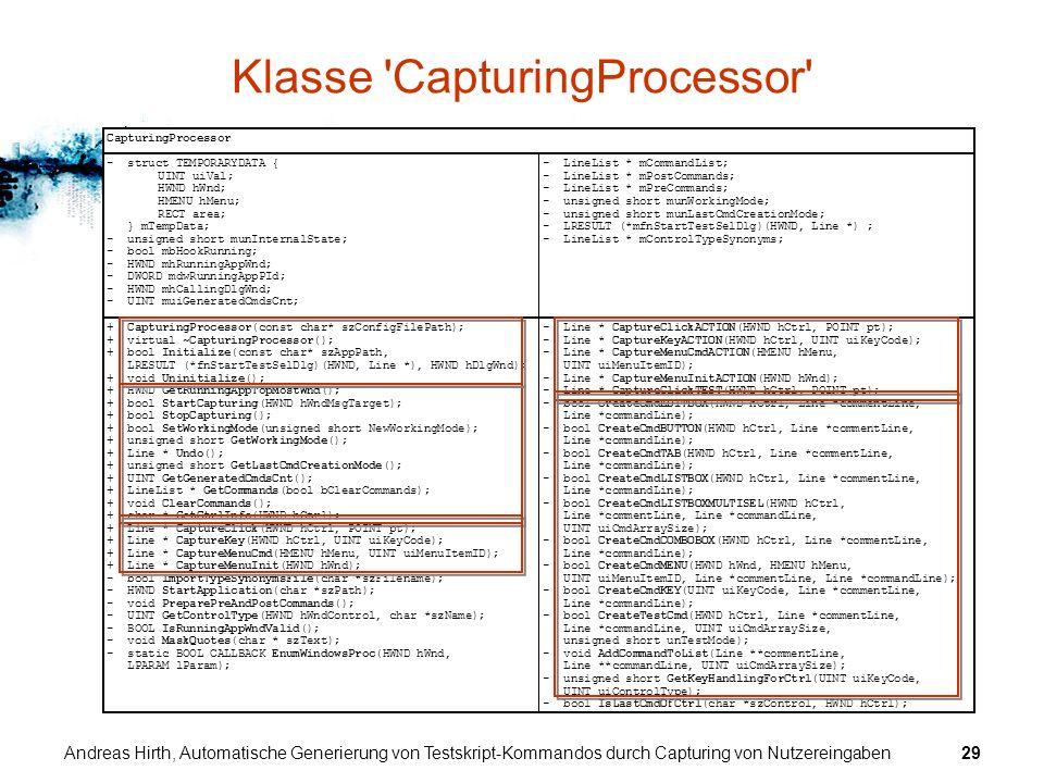 Klasse CapturingProcessor