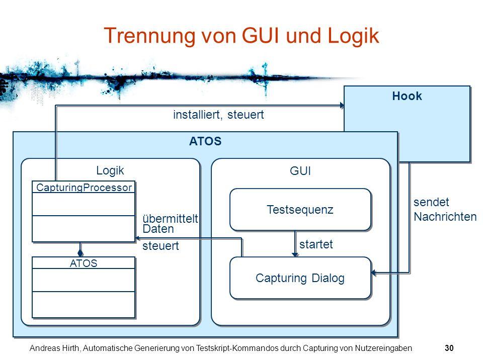 Trennung von GUI und Logik