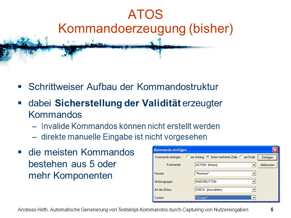 ATOS Kommandoerzeugung (bisher)