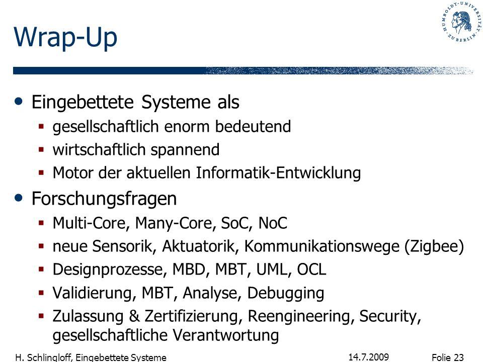 Wrap-Up Eingebettete Systeme als Forschungsfragen