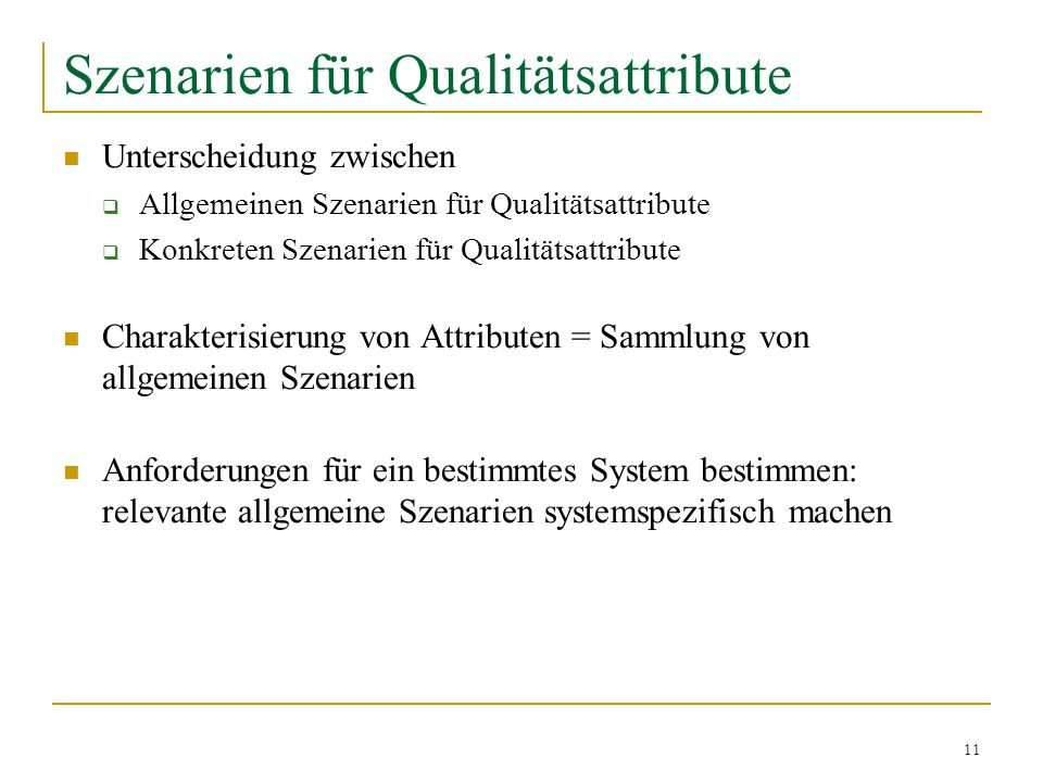 Szenarien für Qualitätsattribute