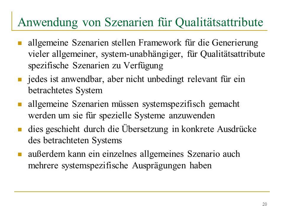 Anwendung von Szenarien für Qualitätsattribute