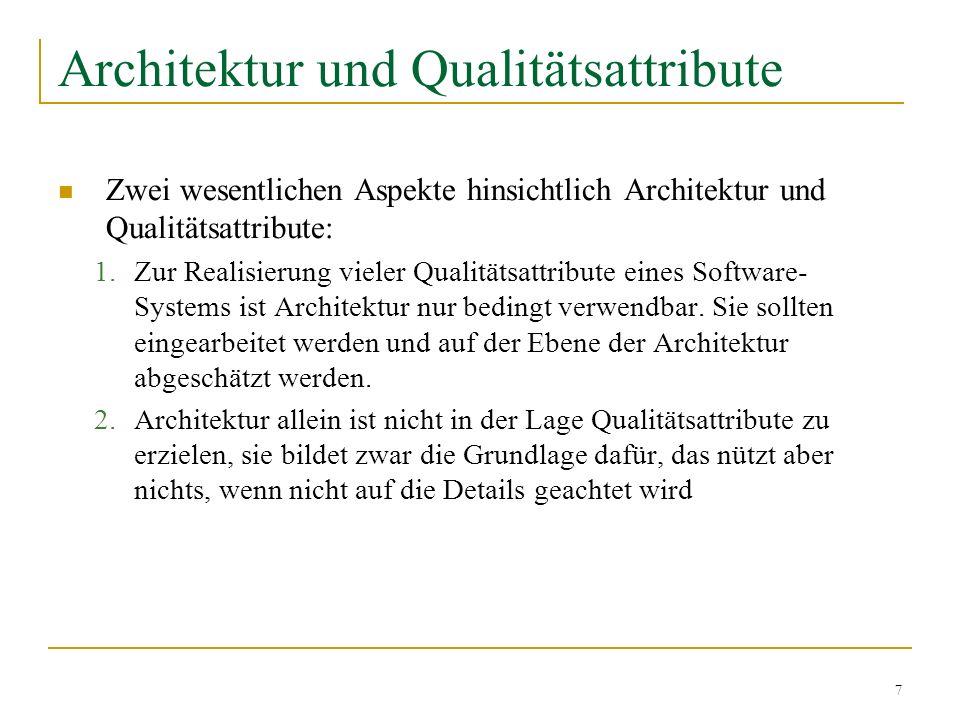 Architektur und Qualitätsattribute