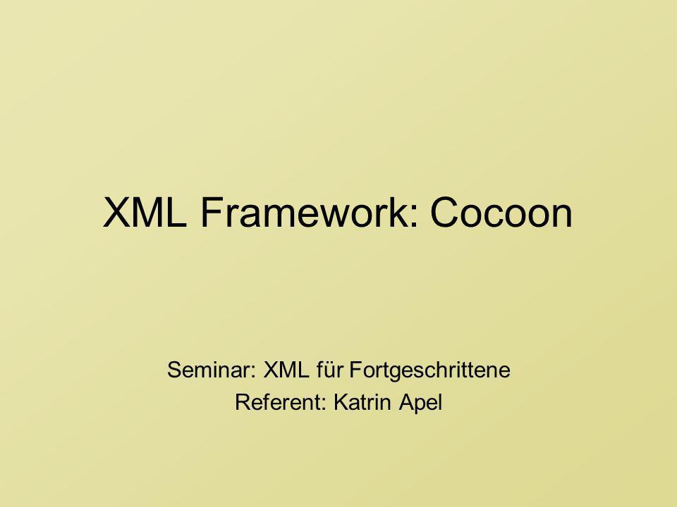 Seminar: XML für Fortgeschrittene Referent: Katrin Apel