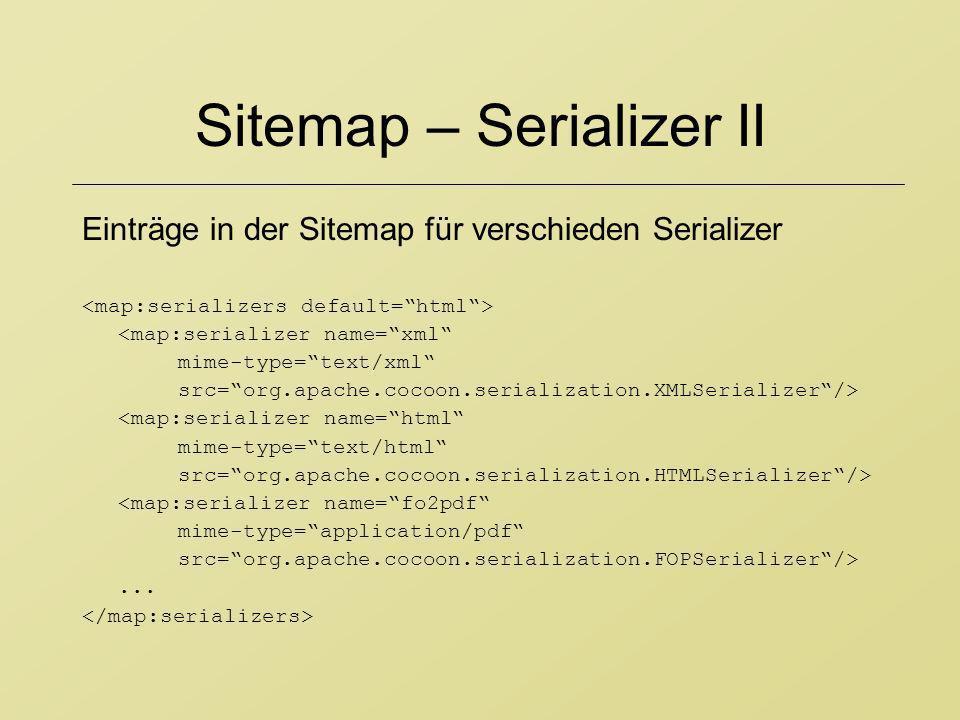 Sitemap – Serializer II