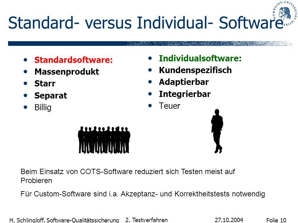 Standard- versus Individual- Software