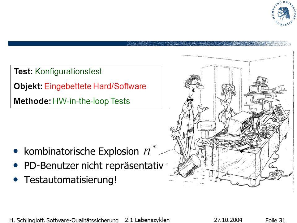 kombinatorische Explosion PD-Benutzer nicht repräsentativ