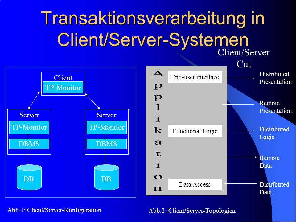 Transaktionsverarbeitung in Client/Server-Systemen