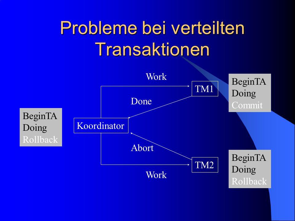 Probleme bei verteilten Transaktionen
