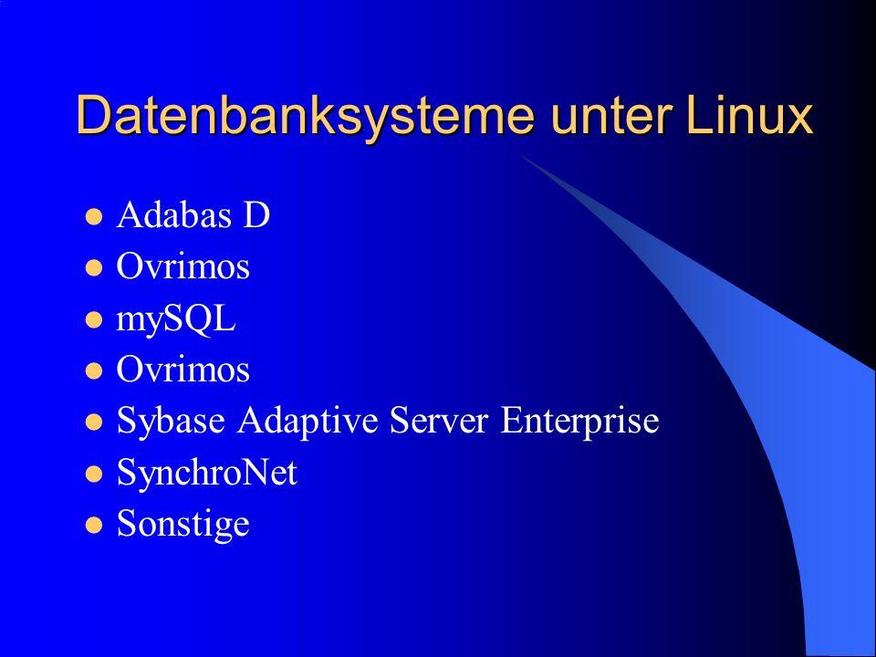 Datenbanksysteme unter Linux
