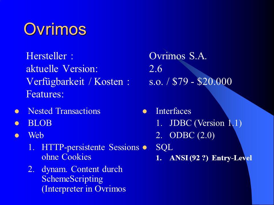 Ovrimos Hersteller : Ovrimos S.A. aktuelle Version: 2.6