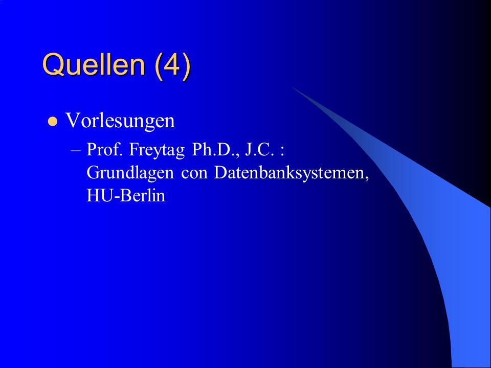 Quellen (4) Vorlesungen