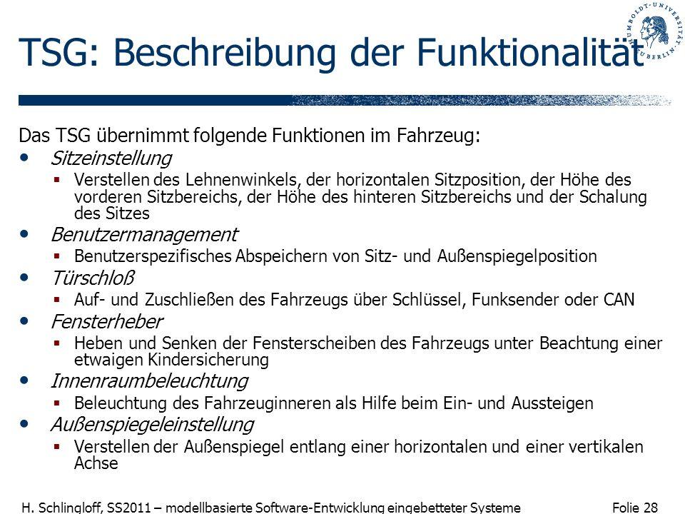 TSG: Beschreibung der Funktionalität