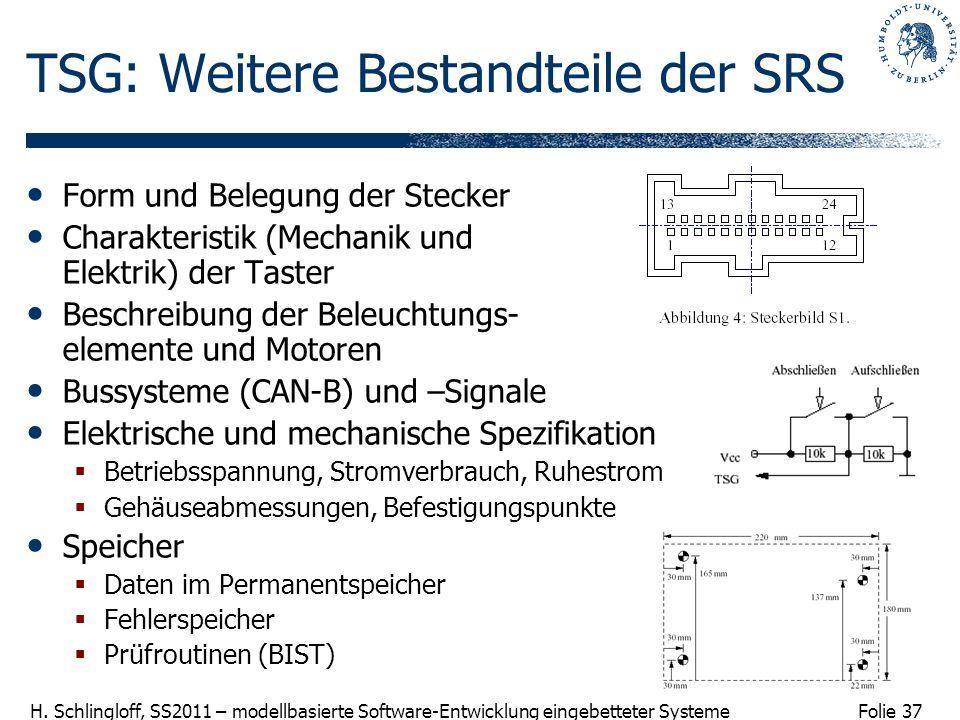 TSG: Weitere Bestandteile der SRS