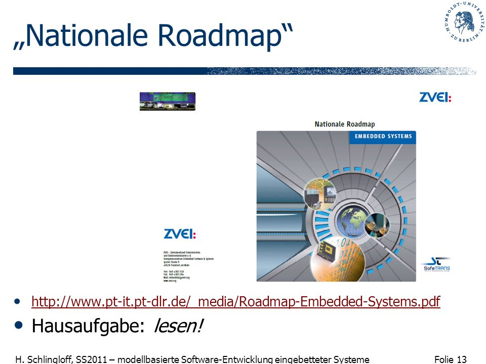 """Nationale Roadmap Hausaufgabe: lesen!"