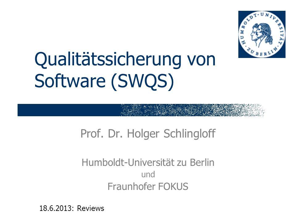 Qualitätssicherung von Software (SWQS)