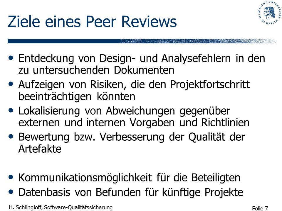 Ziele eines Peer Reviews