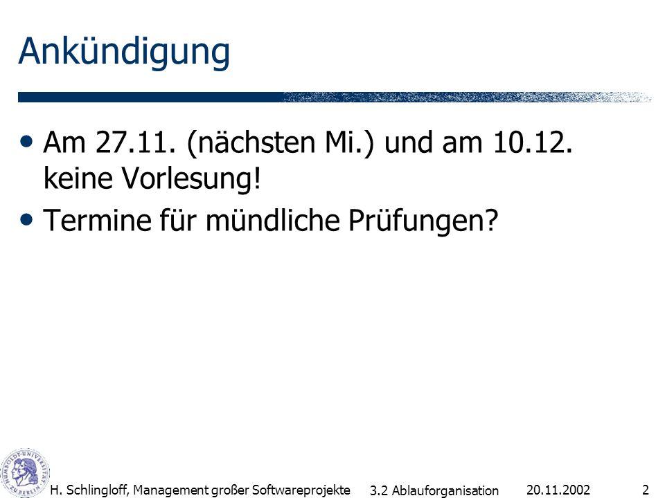 Ankündigung Am 27.11. (nächsten Mi.) und am 10.12. keine Vorlesung!