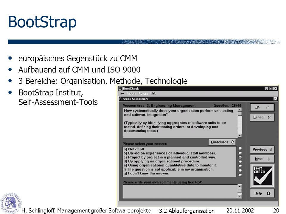 BootStrap europäisches Gegenstück zu CMM