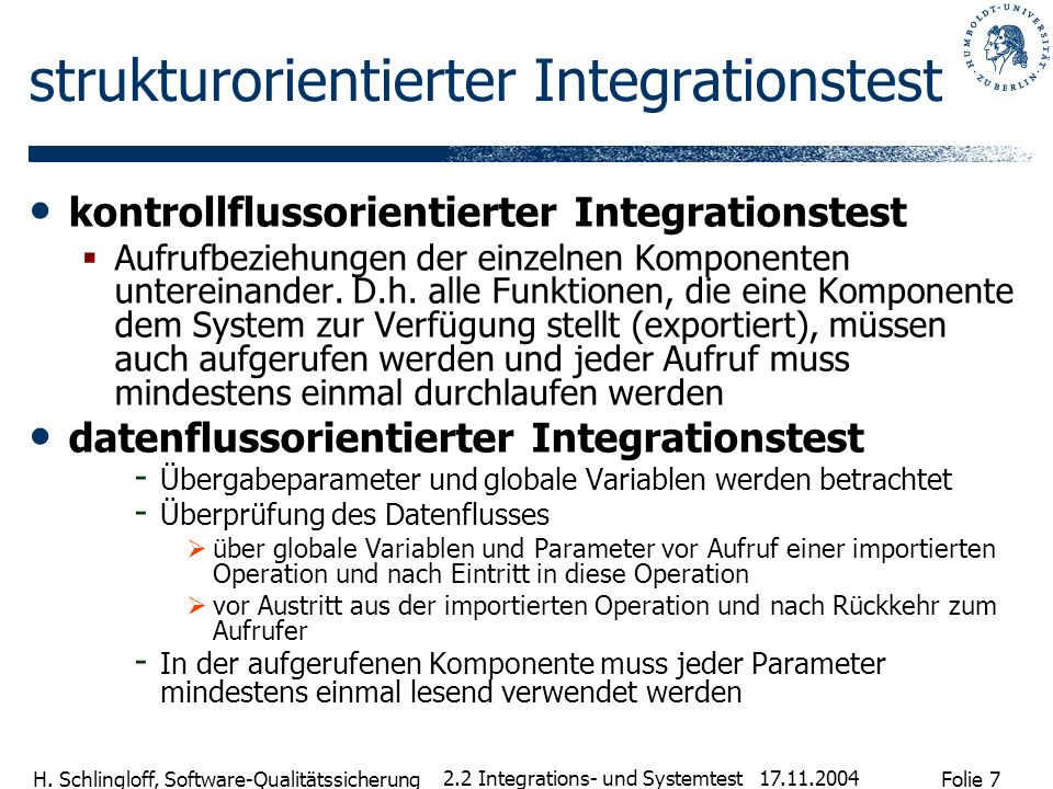 strukturorientierter Integrationstest