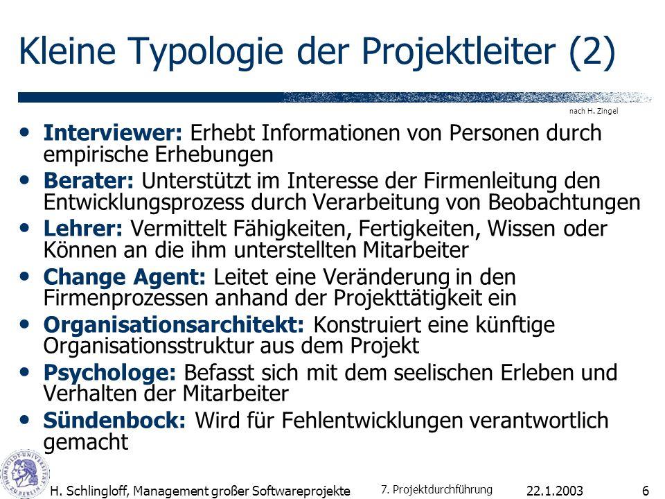 Kleine Typologie der Projektleiter (2)