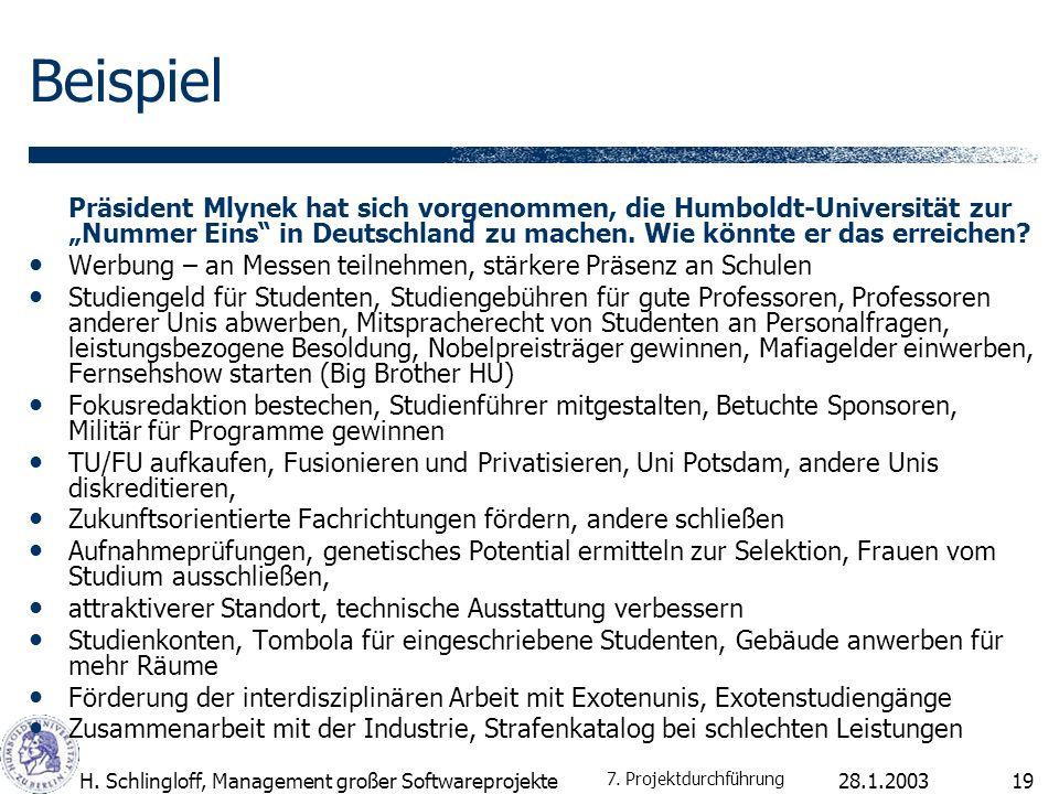 """Beispiel Präsident Mlynek hat sich vorgenommen, die Humboldt-Universität zur """"Nummer Eins in Deutschland zu machen. Wie könnte er das erreichen"""