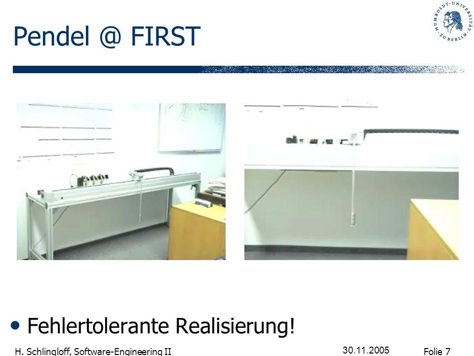 Pendel @ FIRST Fehlertolerante Realisierung! 30.11.2005